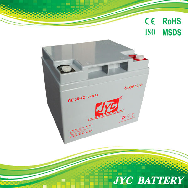 38ah mini 12v rechargeable storage battery with JYC brand