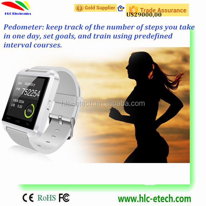 3 Colors Available Bluetooth Smart Watch U8 wrist watch sport for iPhone 4/4S/5/5S Samsung S4/Note 2/Note 3 HTC Android Phone