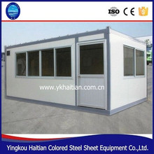 Affordable prefabricated modern steel and glass commercial building quick build container house