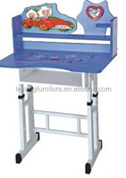 beautiful metal and wood desk and chair for school