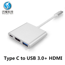 Mac os andorid 15CM 1080P 4K USB 3.1 type c to HDMI Adapter Cable PD2.0 OTG HDMI 2.0 USB 3.0 output usb typy-c to hdmi hub