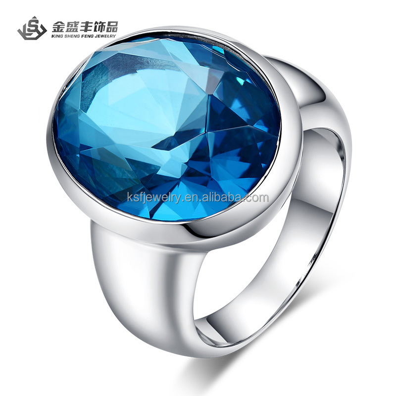 2015 china factory direct wholesale jewelry engagement ring glass gemstone jewelry