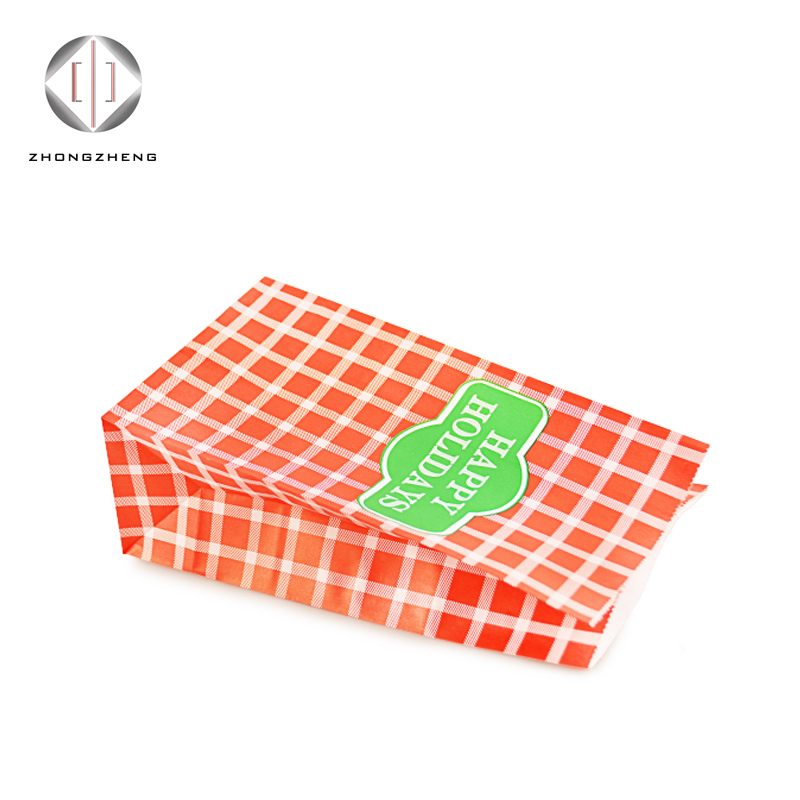 Food industry disposable kraft gift packing bag/ food grade environmental food delivery paper bags