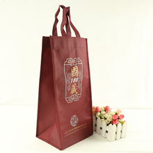 non woven single wine glass gift bags