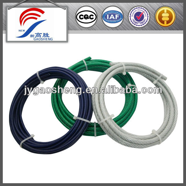 Colored Plastic Coated Wire Rope