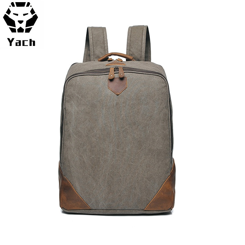 wholesale backpack manufacturers china custom hiking <strong>school</strong> outdoor waxed travelling canvas back pack