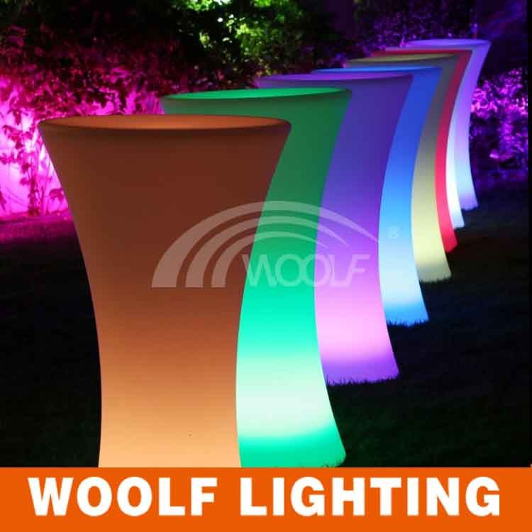 illuminated led bar table for party