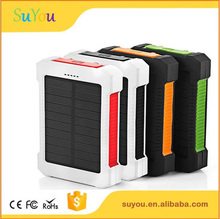Solar Charger 10000mAh Portable Solar Power Bank Waterproof Dual USB Battery Bank for cell phone