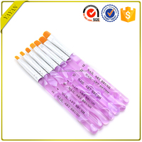 Customized Filbert Synthetic Nylon Hair Acrylic Nail Art Brush Set For Sale