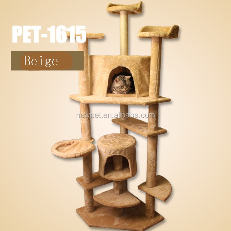 Direct factory modern design luxury cat scratch tree unique pet toys cat scratching post