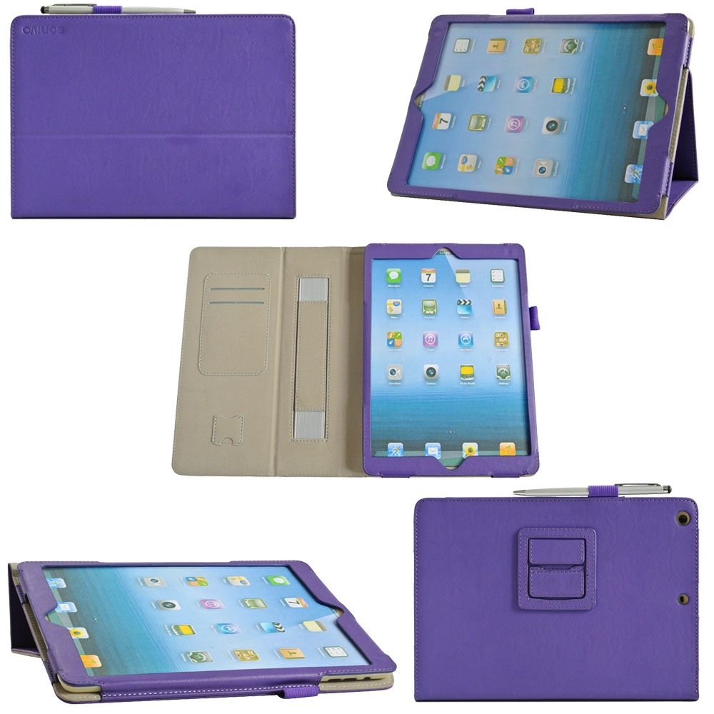Solid Protective Cover PU Leathet Flip Tablet Case For iPad Air