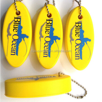 Custom eva keychains keyrings,oval floated key ring chains with printed logo