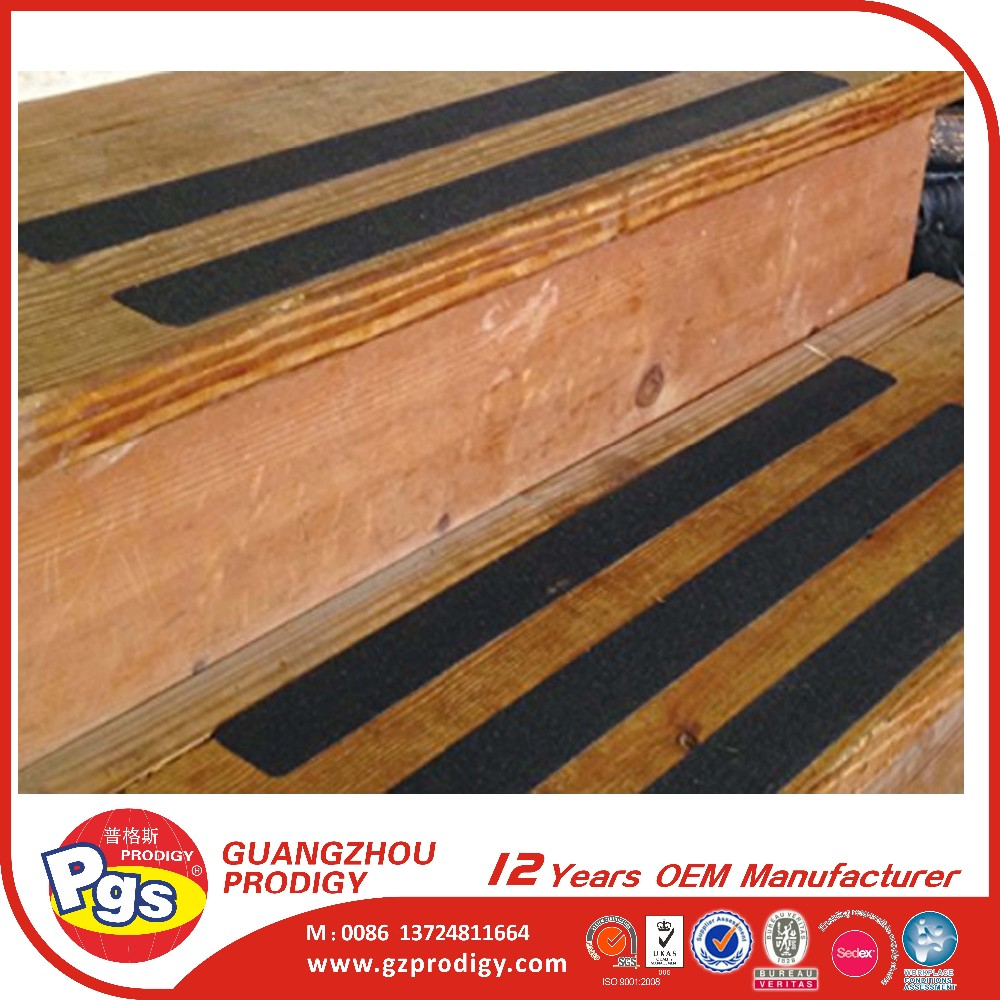 OEM size REACH, PAHS certification adhesive anti-slip strip for stairs