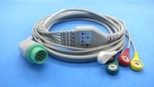 wholesale One-piece ECG cable with 5 leads snap ,Contorn,fukuda dynascope7100 ecg cable