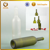 alcohol glass bottles / frosted glass price / frost alcohol glass bottle