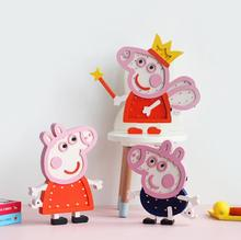 New arrival kids christmas led lights cartoon pig design wooden customized 3D led night light