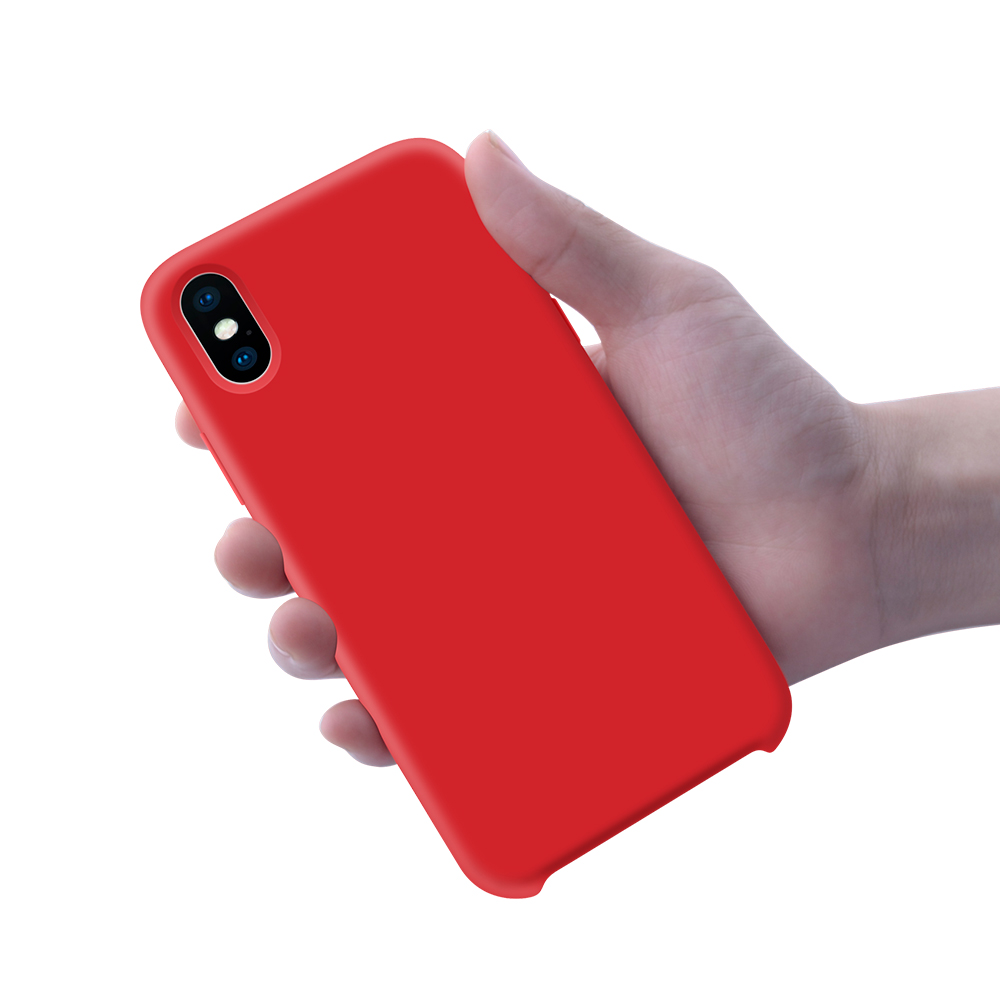 Liquid Silicone Gel Rubber Shockproof With Soft <strong>Microfiber</strong> Cloth Lining Cushion For iPhone Xs Max