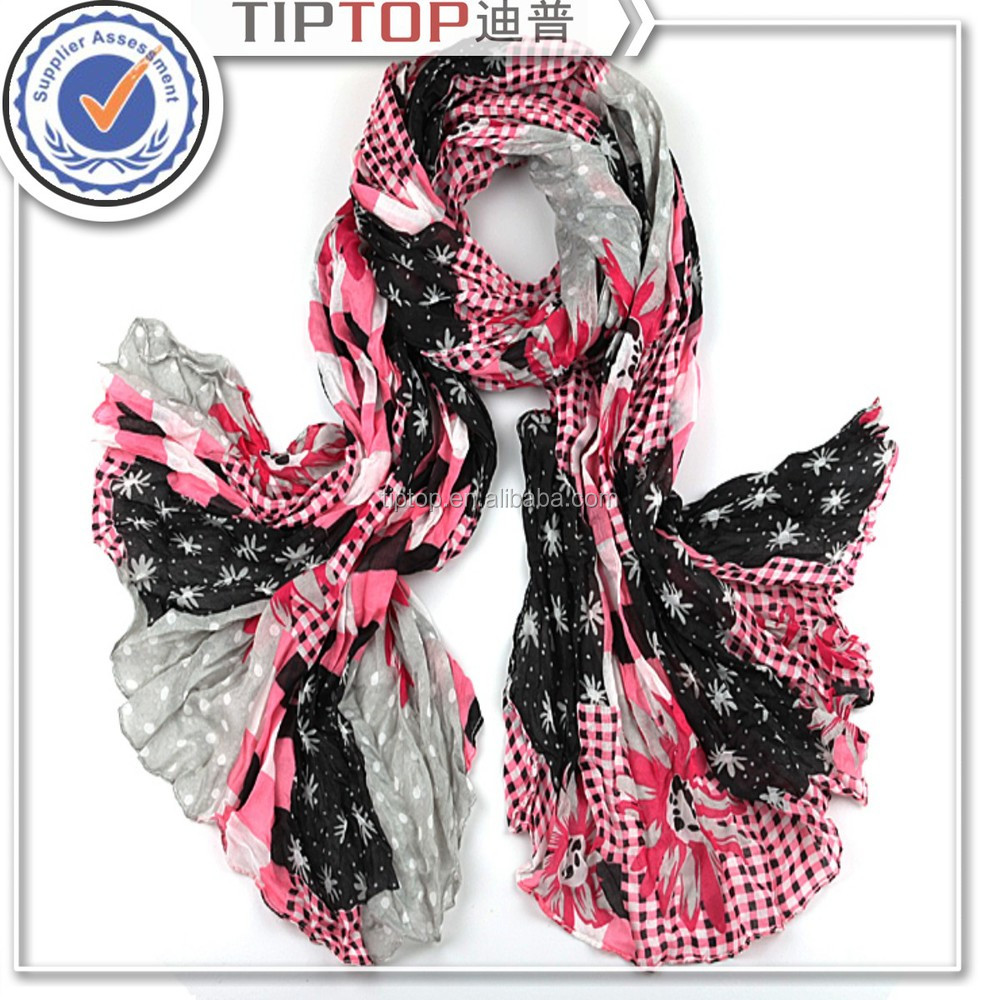 woman fashion low moq custom scarf, polyster scarf