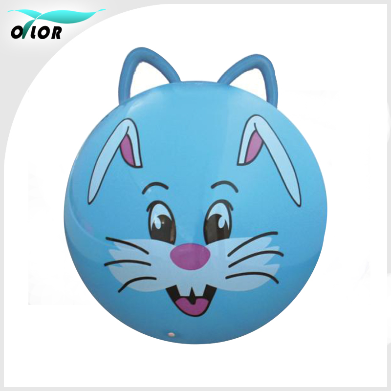 Eco-friendly PVC material 45 cm handle toy jumping ball