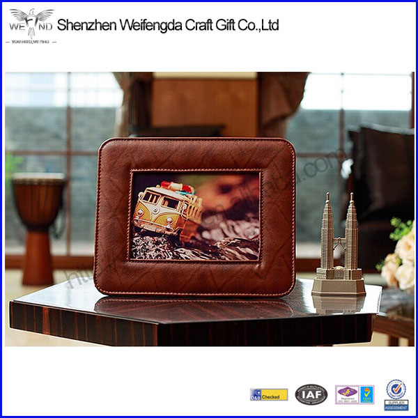 High Quality New Fantastic Beautiful Design Leather Promotion Picture Frame