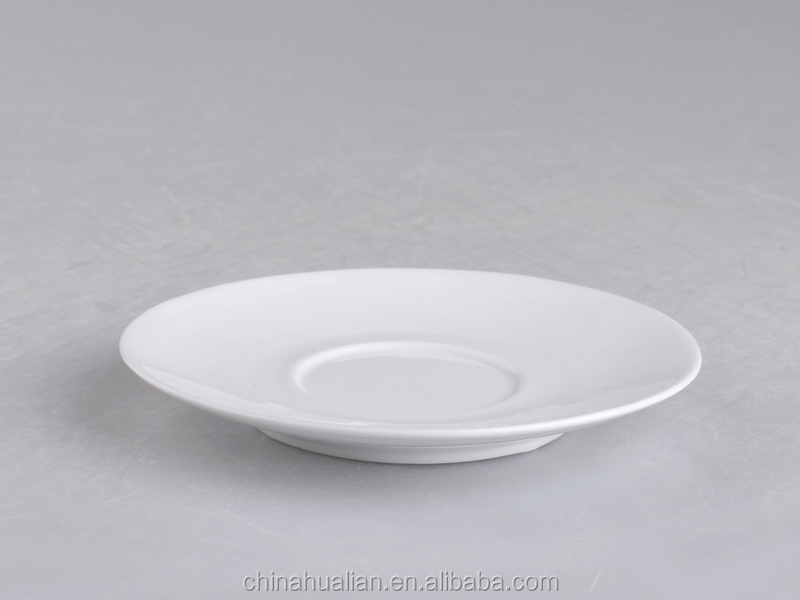 "5""High houseware Pure white ceramics plate wholesale"