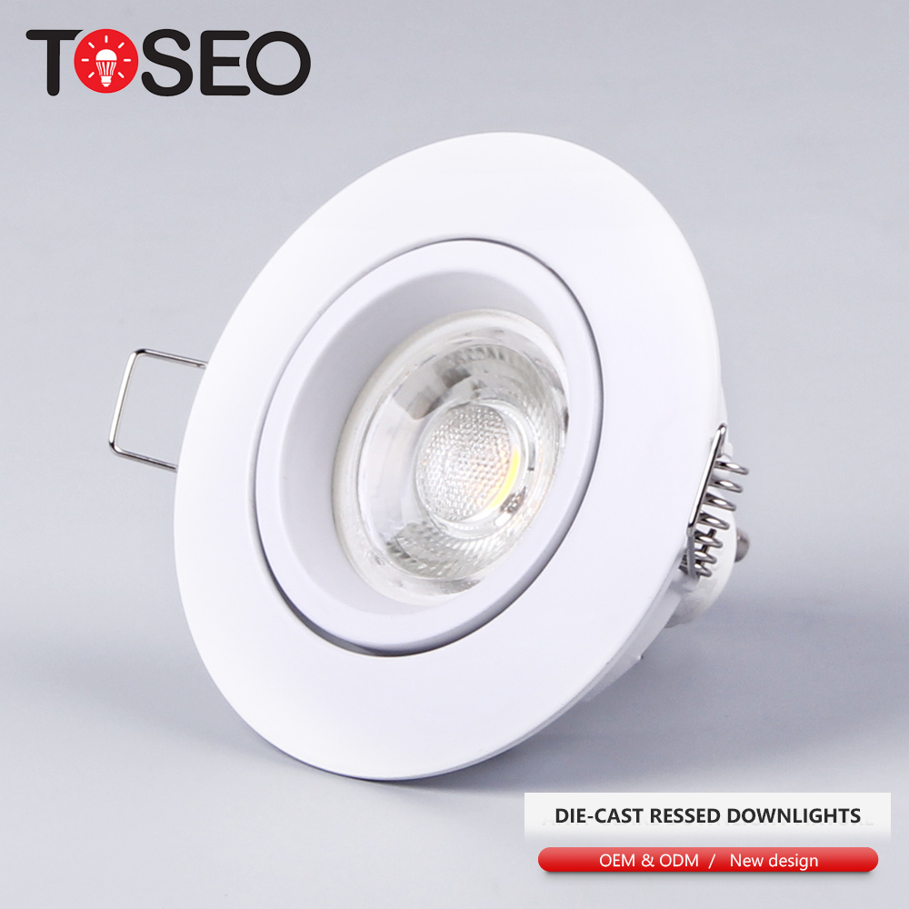 IP20 adjustable led cob recessed 3W/5W/6W spot light gu10 mr16 fixture led <strong>spotlight</strong>