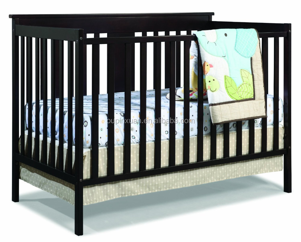 2015 eco-friendly solid bamboo portable baby crib baby cot Mission Ridge Fixed Side Convertible Crib