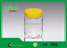 wholesale food grade pet 360ml plastic clear empty sesame paste, jam jar / peanut butter jars