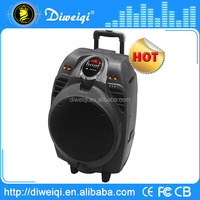 High quality fm radio portable speaker with usb port/rechargeable