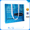 foldable recycled laminated pp non woven shopping bag with shoulder strap