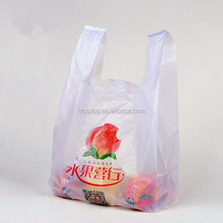 clear fruit packing custom printed plastic t shirt bags