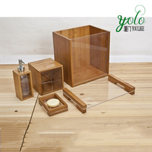 Bathroom accessory sets Bamboo bathroom set