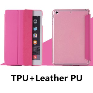 1pcs Retail Leather Case Side Flip Soft TPU+PU Leather Cover Case for iPad Air