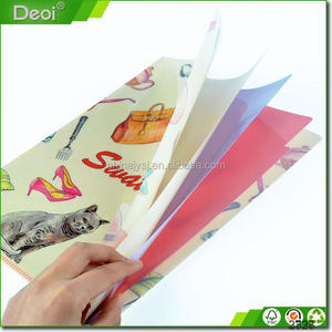Office Stationery A4 Plastic Clear Plastic Zipper Folder