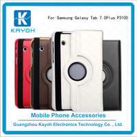 [kayoh]Attractive Rotating 360 degree mobile covers Stand Case For 7 inch samsung P3100 Phone cases