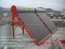 solar manufacturer vacuum tube solar water heater guangzhou pressurized 150L cheap price
