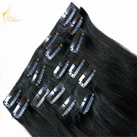 Juancheng Xinda Hair Products Factory Clip in 100% Virgin Indian Remy Hair Extensions Clip In Hair Extension