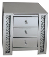 wholesale home furniture mirrored chest of drawers,mirror cabinet with crystal