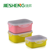 Recyclable boxes plastic surface thermal stainless steel plastic bento box