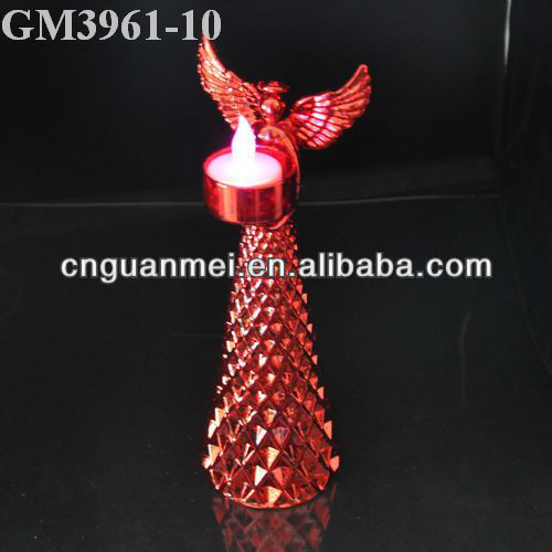 glass angel candle holder/2013 new glass product