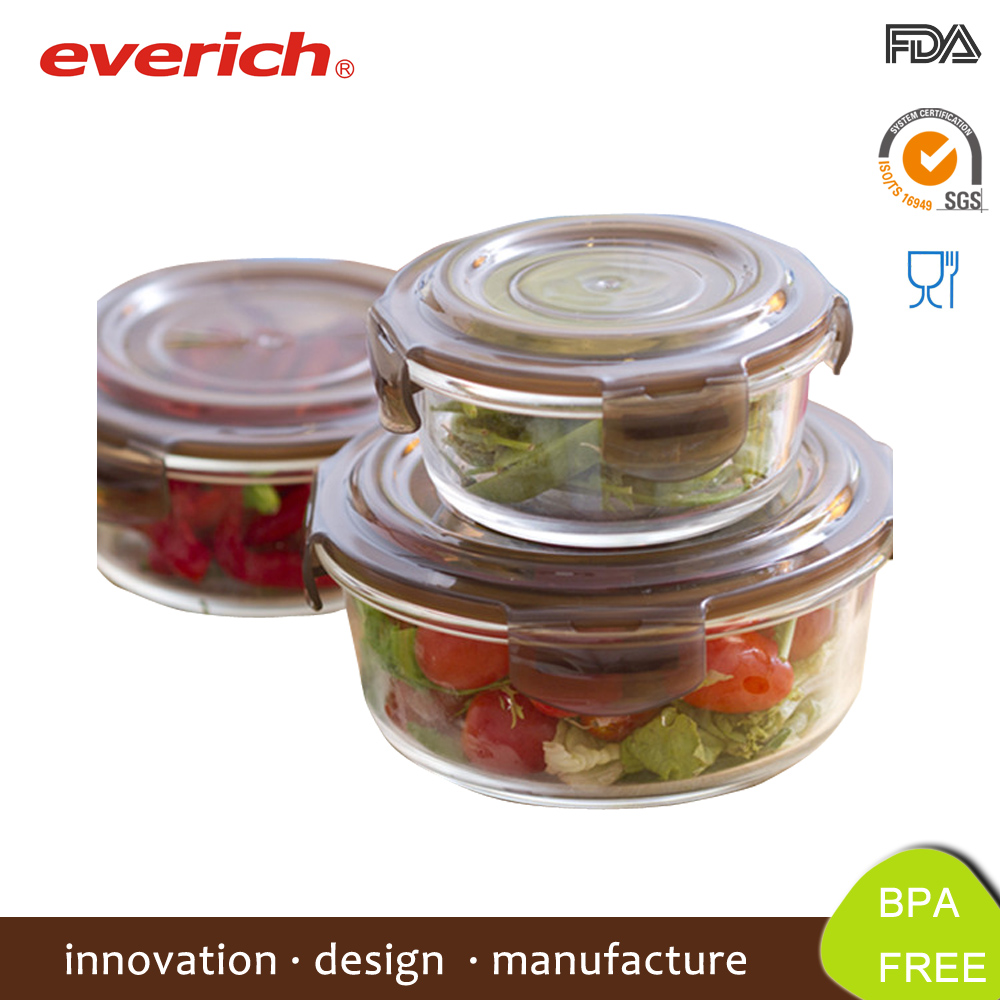 Borosilicate Glass Lunch Container, Oven And Microwave Safe With Lids