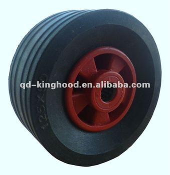 Small wheels and tires solid rubber wheel 125mmx50mm