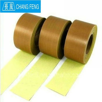 High density PTFE coated fiberglass fabric adhesive tape