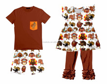 2017 Brother and Sisters turkey clothes set thanksgiving clothing Set