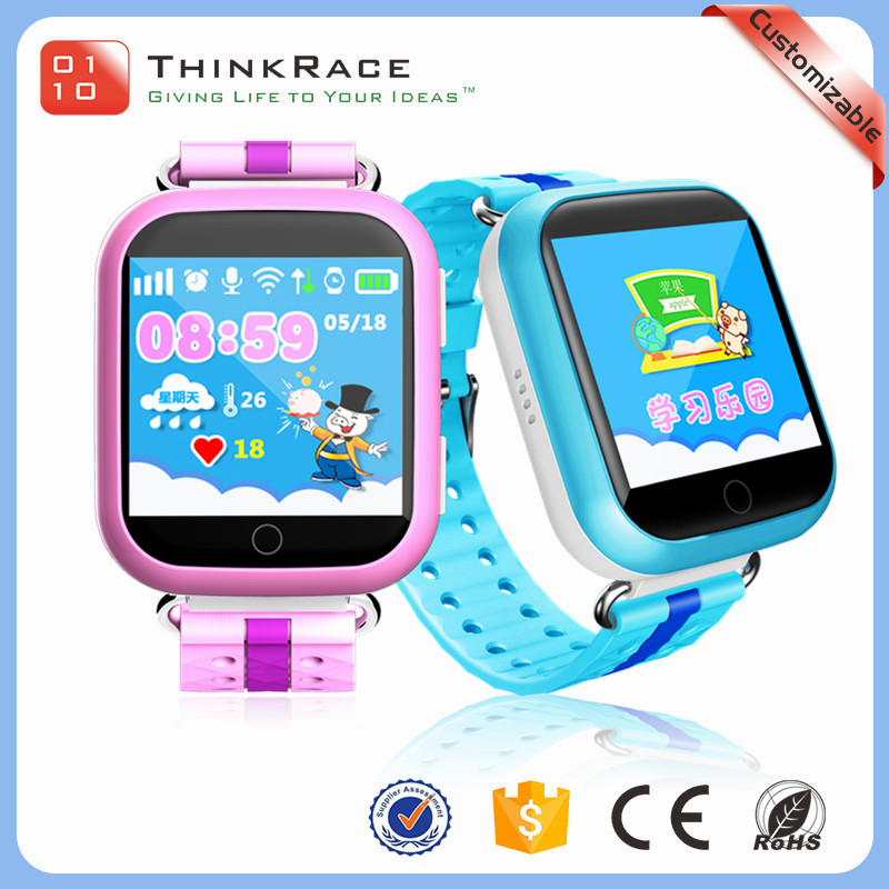 New type 1.54 inch color touch screen kids gps smart watch phone