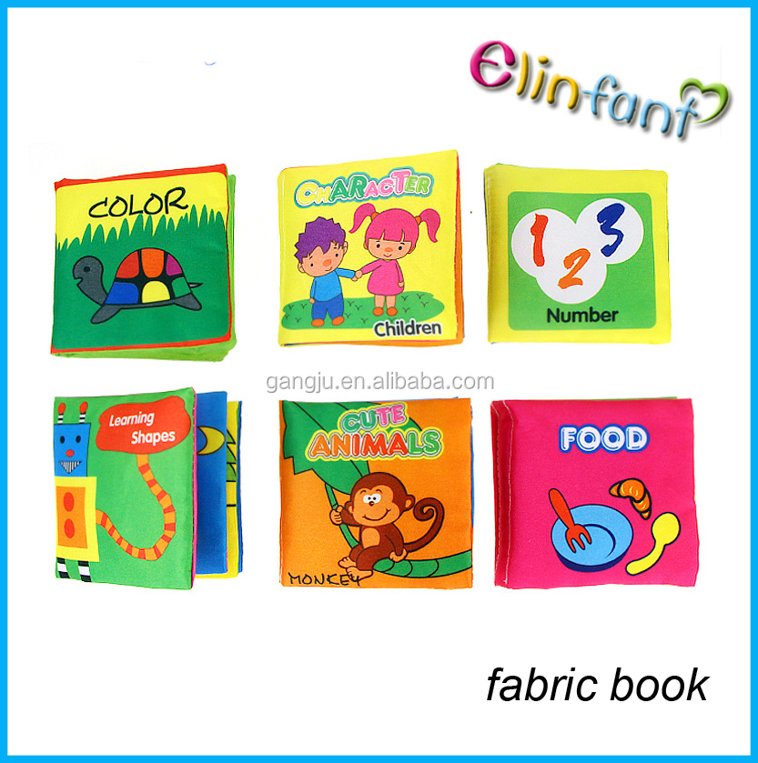 Educational Baby Toys Infant Soft Cloth Book