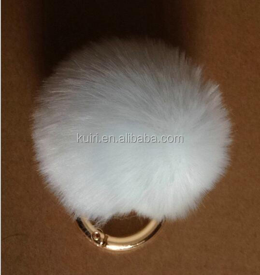 The factory wholesale Faux Fur Ball /Artificial Rabbit Fur Poms / Key Chain for Womens Bag or Cellphone or Car