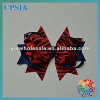red black zebra grosgrain ribbon bow with clip hair bow lovely bowknot