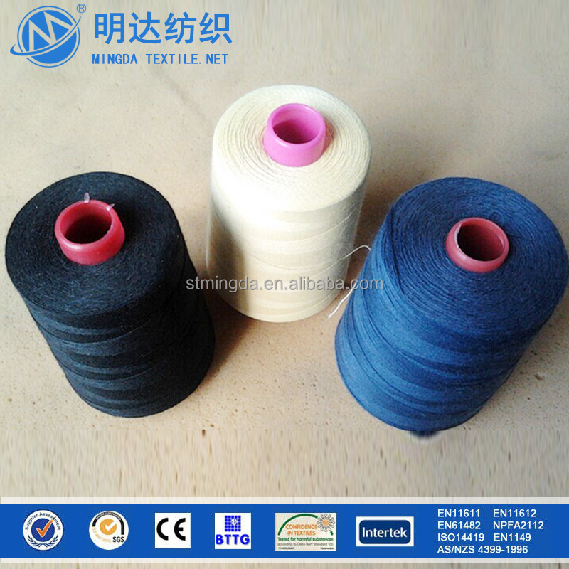 2015 high quality chemical resistant and heat insulation 1313 meta aramid flame retardant nomex/kevlar sewing thread for sale