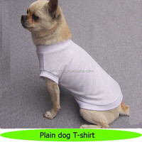 Wholesale cotton plain white dog T-shirts